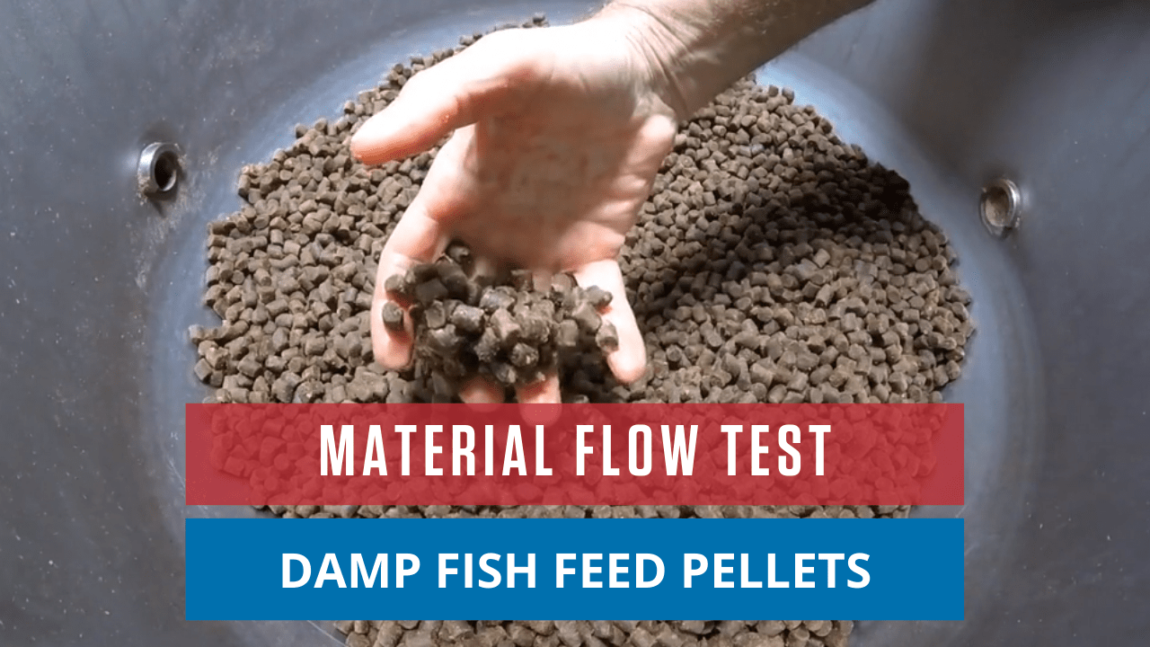 Material Flow Test Damp Fish Feed Pellets