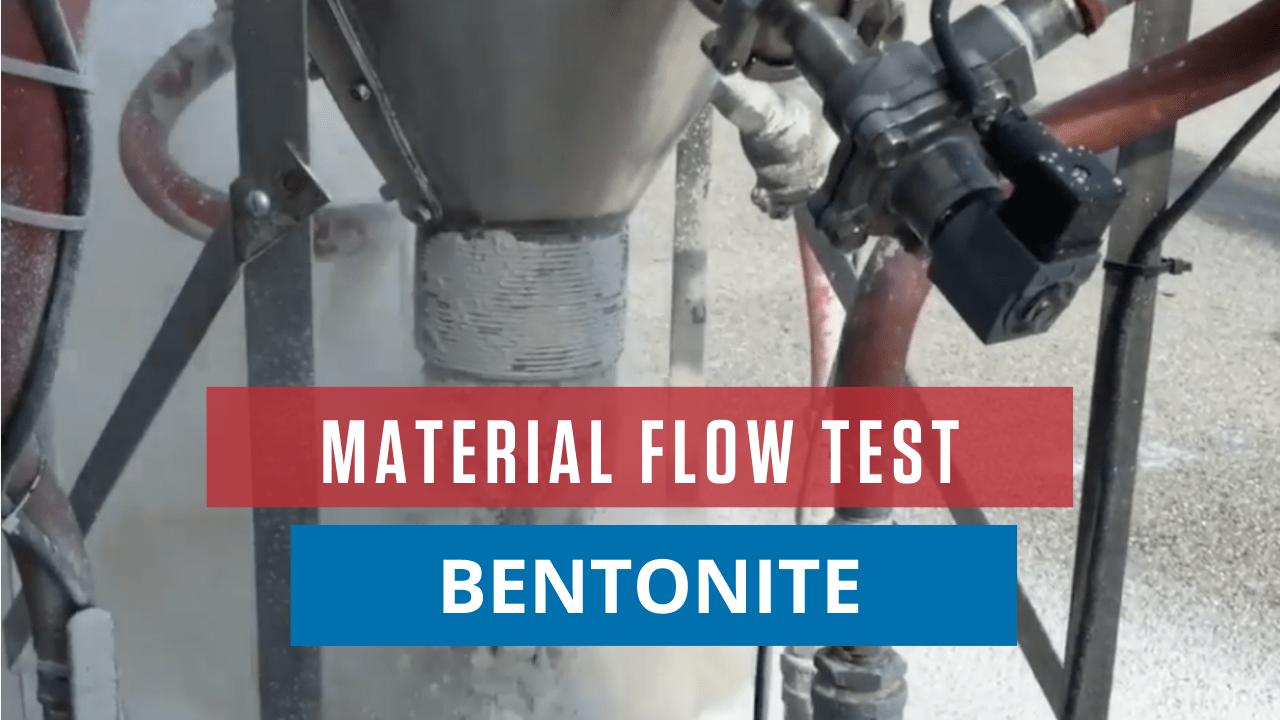 Material Flow Test Bentonite