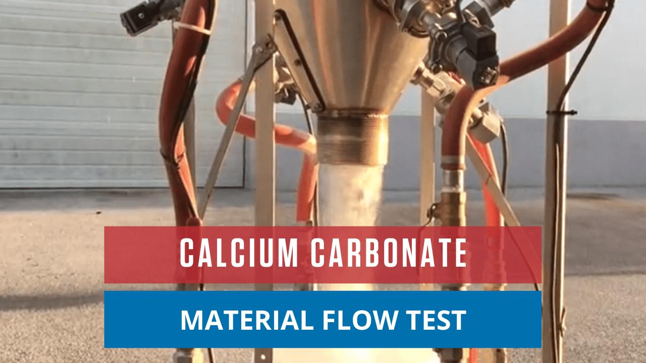 Calcium Carbonate Material Flow Test