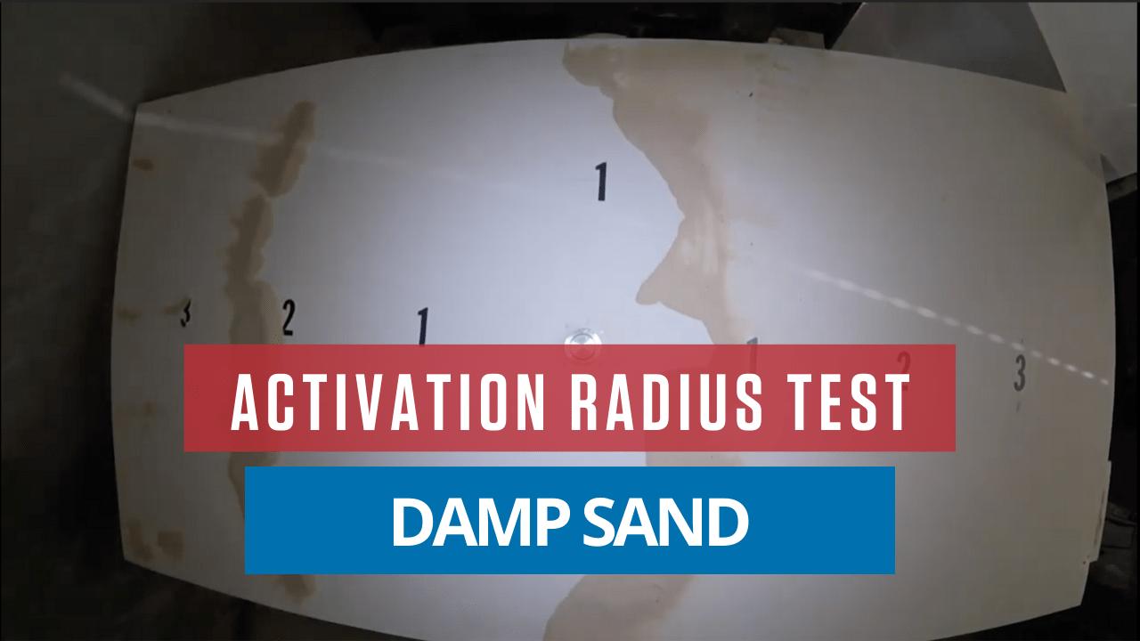 AirSweep Activation Radius Test: Damp Sand